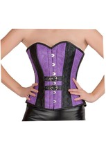 Purple Black Faux Leather & With Leather Belt Gothic Steampunk Overbust Costume - $59.99
