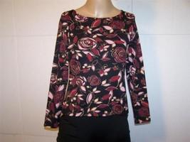 APOSTROPHE Shirt Top PS Floral Nylon Spandex St... - $10.36