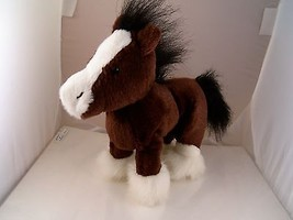 "Ganz Brown & White Clydesdale Pony 9"" Plush Excellent - $6.92"