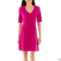 R&K Originals Elbow-Sleeve Ribbed Jersey Knit Dress Size PL, PXL New Msr... - $24.99