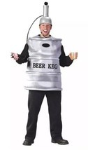 NEW Beer Keg Dispenser Adult Costume Funny Frat Fraternity Party Halloween - $24.66