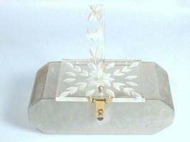 Lucite Ladies Purse Hand Bag pearlized Vintage Mid Century Florida Handbags - $223.99