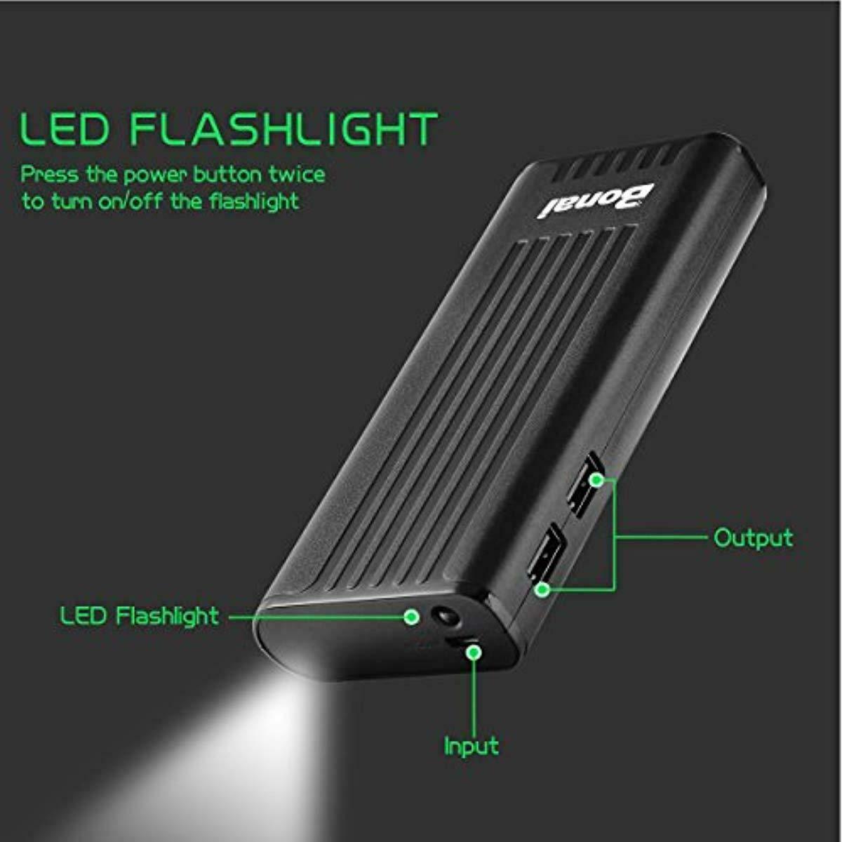 BONAI Portable Charger Power Bank 10,000mAh Battery Compatible iPhone Samsung