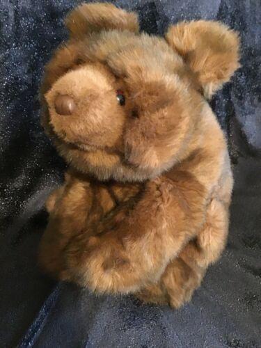 "Gund Collectors Classic Teddy Bear Vintage 1987 Large 20"" Brown Walking Sitting"