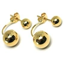 Pendientes Oro Amarillo 750 18K, Colgantes, Doble Esfera, Hecho en Italia - $246.60+