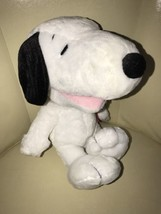 "Peanuts Laughing SNOOPY Plush Toy Doll 14"" Tall Stuffed White Beagle Dog - $12.86"