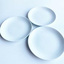 Snowhite Johnson Brothers Porcelain White Plates England 3 Vintage Dinner Bundle - $27.69