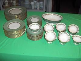 Vintage 61-Pc Set Franciscan China Concord Green Gold Grapesr California... - $490.05