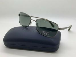 New Nautica N5107S 042  POLARIZED GUNMETAL Sunglasses 58mm w/Case - $44.59