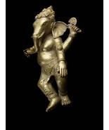 Vintage Mythical Creature - large Ganesha metal statue - hindu deitie go... - $125.00