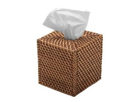 "KOUBOO 1030017 Square Rattan Tissue Box Cover, 5.5"" x 5.5"" x 5.75"", Hone... - $23.75"