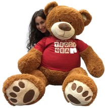 5 Foot Giant Teddy Bear 60 Inches Soft Cinnamon Brown LET ME BE YOUR TED... - $127.11