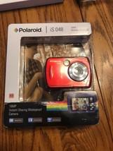 Polaroid iS048 Waterproof Digital Camera - Red Ships N 24h - $52.45