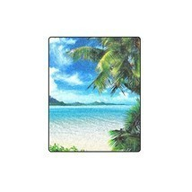 "40"" x 50"" (Small) Cotton Blankets and Throws with Paradise Beach Sea Oce... - €33,44 EUR"