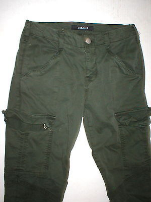 New J Brand Jeans Womens Skinny Pants Houlihan 25 Distressed Caledon Green Zip image 6