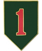 US Army 1st Infantry Division Combat Service Badge  (2 inch) - $14.84