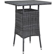 Summon Small Outdoor Patio Bar Table Gray EEI-1974-GRY - $288.75