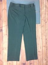 Liz Claiborne Womens Sz 14 Dress Pants Gray Audra Straight Leg w Stretch - $16.95
