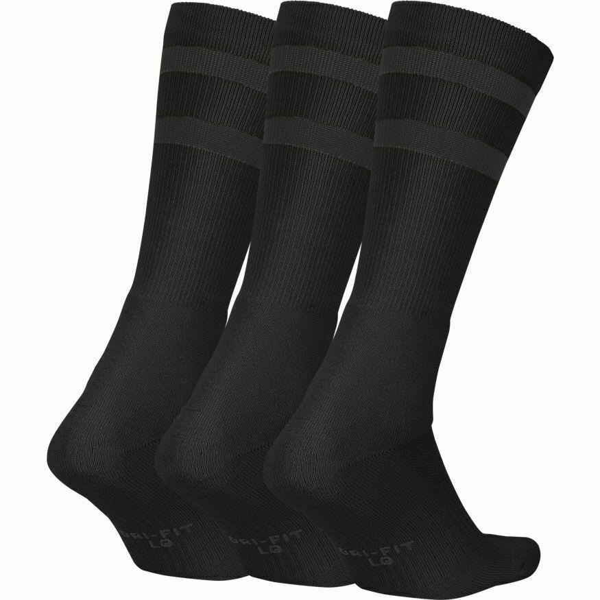NIKE SB Socks 3 Pack Crew Black Anthracite SIZE L New Skateboard Sox image 5