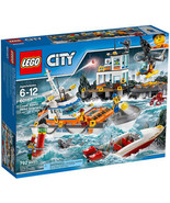 LEGO City Coast Guard Head Quarters 7 Mini-Figurines 2 Animal Figurines - $142.99