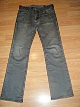 GUESS LINCOLN SLIM STRAIGHT FADED BLACK STRETCH DK DENIM JEANS SIZE 31 - $17.41