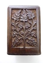 "Vintage Carved Wood Pen / Pencil Holder 4 3/8"" tall Tree - $29.00"