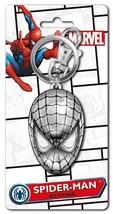 Marvel Comics Spider-Man Mask Face Metal Pewter Key Ring Keychain, NEW UNUSED - $7.80