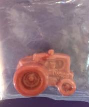 Farm Tractor Minature Ceramic Glass Orange Collectible Figurine  - $9.99