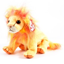 2000 TY Beanie Baby Bushy Orange Lion Beanbag Plush Doll New With Tags - $8.68