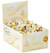Lindt LINDOR White Chocolate Truffles, Gluten Free & Kosher, 60 Count Box - $50.00