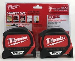 Milwaukee - 48-22-7125G - 25 ft. Premium Magnetic Tape Measure -Twin Pack - $49.20