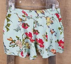 asos petite women's 8 floral mint color flare s... - $16.78