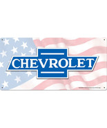 """Chevrolet Logo Metal Sign 24"""" by 12"""" - $35.00"""