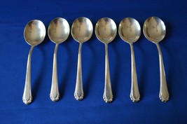 6 Gorham Silver Plate Cavalier 1937 Gumbo Soup Spoons - $29.70