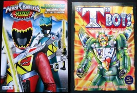 """""""T"""" Bots Morphing Rocots and Power Rangers Coloring Books Set of 2  - $7.99"""