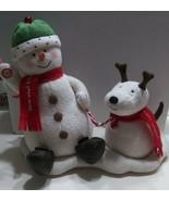VTG 2004 Hallmark Jingle Pals Animated & Musical Snowman and DogTested ... - $19.79