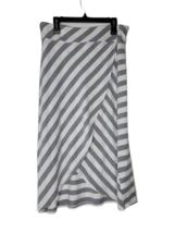Athleta Womens White Gray Striped Inner Pocket Athletic A Line Skirt Siz... - $34.65