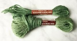 Vintage Bucilla Persian Wool Needlepoint Crewel Yarn - 1+ Skein Green #115 - $4.04