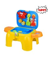 Children's Toy Stool Game Sand Water Table Summer Beach Toy Digging Sand... - $30.88