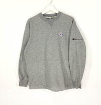 Champion embroidered small logo vintage 90s sweatshirt/heather gray - $50.00