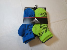 Adidas Youth Cushioned Climalite Stain Resistant Socks Quater 6 Pair 13C-4Y - $39.59