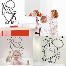 [NEW] Cute Baby Shower Pattern Sticker Bathroom Glass Door Wall Decoration - $9.07