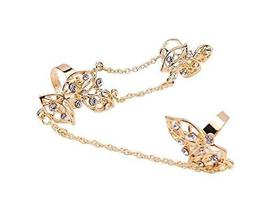 Fashion Personality Bracelet Jewelry Finger Rings And Chains, Golden Flower