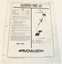 McCulloch Part List Pro MAC Silver Eagle Gas Curved String Trimmer Brush... - $9.99