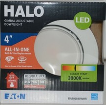 Eaton RA406930WHR HALO Gimbal Adjustable Downlight White 4 Inches image 1
