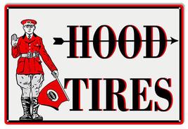 Large Hood Tires Reproduction Garage Shop Metal Sign 16x24 - $39.55