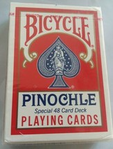 SEALED Bicycle Pinochle Playing Cards Special 48 Card Deck Air Cushion Finish  - $7.90