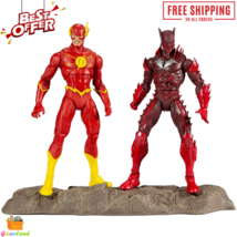 """DC Multiverse Batman (Red Death) and The Flash 7"""" Action Figures Earth 5... - $58.99"""