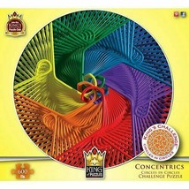King of Puzzles Concentrics Circles in Circles Challenge 600 Pc Puzzle -... - $19.99