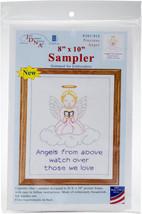 "Jack Dempsey Stamped White Sampler 8""X10""-Precious Angel - $6.51"